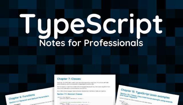 TypeScript notes for professionals